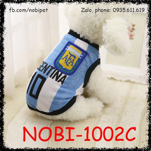 Áo Bóng Đá Argentina Cho Chó Thời Trang Nobi-1002C