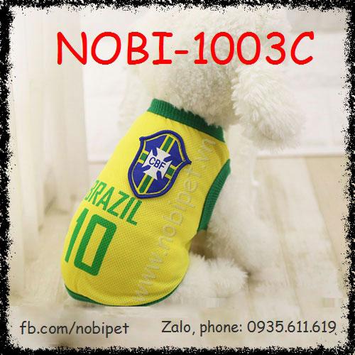 Áo Bóng Đá Brazil Cho Chó Thời Trang Nobi-1003C