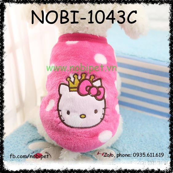 Áo Bông Hello Kitty Cho Chó Xinh Xắn Thu Đông Nobi-1043C