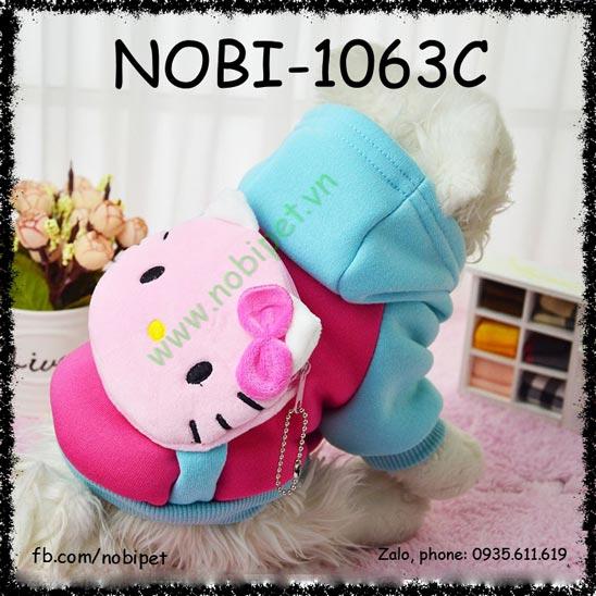 Áo Cho Chó Kitty Cat Thu Đông Có Túi Đựng Tiền Nobi-1063C
