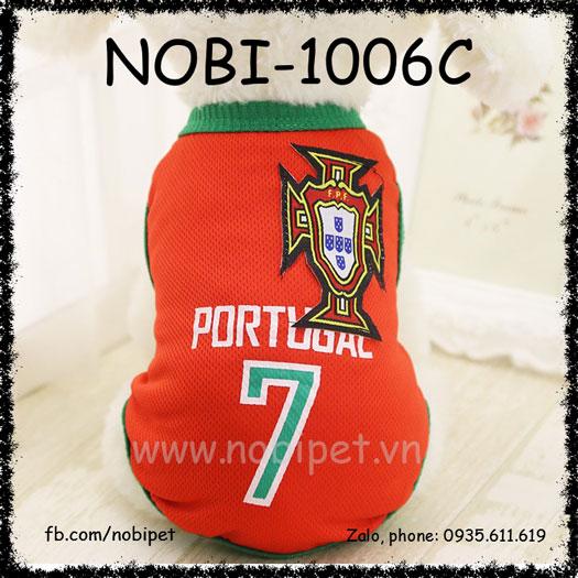 Áo Cho Chó Portugal Thời Trang Bóng Đá Nobi-1006C