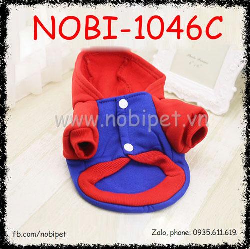 Áo Có Mũ Superman Cho Chó Thời Trang Thu Đông Nobi-1046C