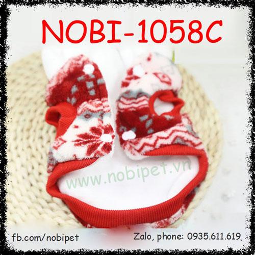 Áo Mũ Độ Christmas Cho Chó Thời Trang Thu Đông Nobi-1058C