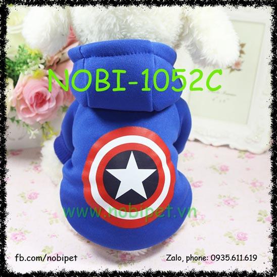 Áo Mũ Đội Captain America Cho Chó Mặc Thu Đông Nobi-1052C