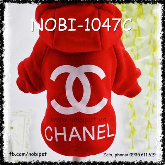 Áo Thời Trang Channel Cho Chó Có Mũ Sành Điệu Nobi-1047C