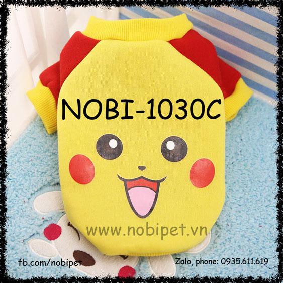 Áo Thu Đông Pikachu Cho Chó Mặc Thời Trang Nobi-1030C