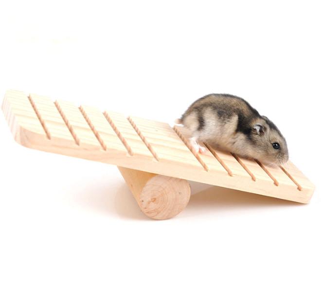 Bập Bênh Gỗ Đồ Chơi Cho Hamster Giảm Stress NOBI-464H