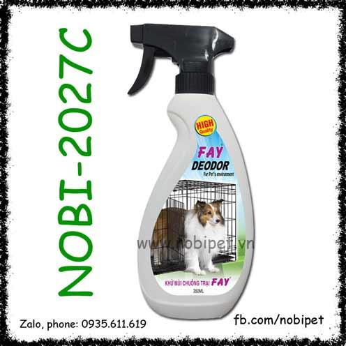 Bình Xịt Fay Deodor Khử Mùi Chuồng Trại Chó Mèo NOBI-2027C