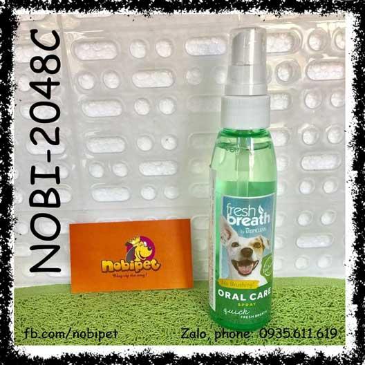 Bình Xịt Fresh Breath Oral Care Spray Thơm Răng Miệng Cho Chó Mèo