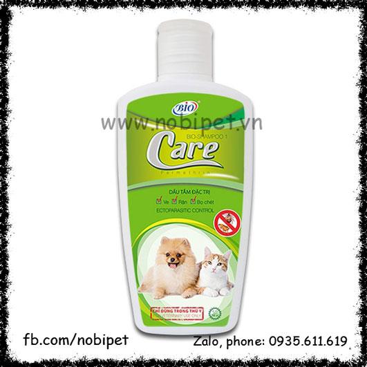 Bio-Shampoo Care 150ml - Sữa Tắm Cho Chó Mèo Trị Ve Rận Bọ Chét NOBI-2081C