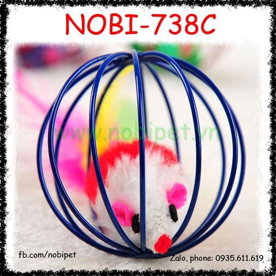 Bóng Chuột Lồng Cầu Real Đồ Chơi Cho Mèo Nobi-738C