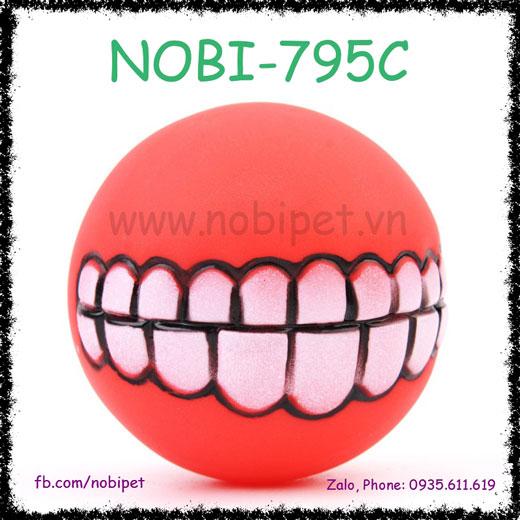 Bóng Su Smile Cho Chó Gặm Chơi Hình Răng Cười Nobi-795C