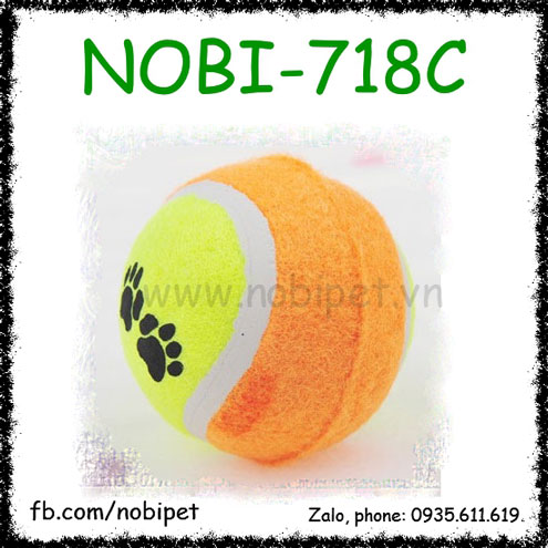 Bóng Su Tennis Đồ Chơi Cho Chó Hình Dấu Chân Nobi-718C