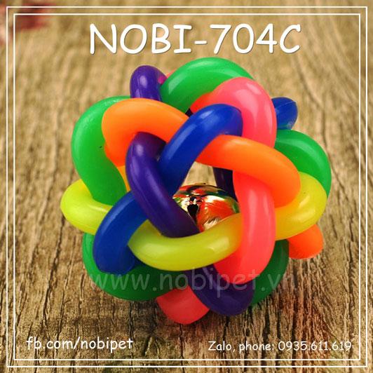 Bóng Xoắn Rainbow Đồ Chơi Cho Chó Nobi-704C
