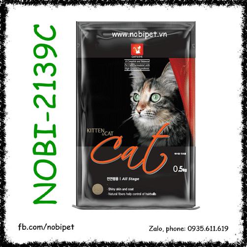 Cats Eye Kitten & Cat 500gr Thức Ăn Hạt Cho Mèo Lớn Và Nhỏ Nobi-2139C