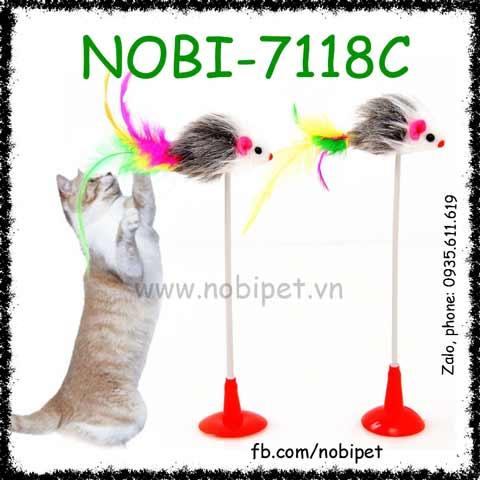 Cây Vờn Kitty Đồ Chơi Có Đế Dựng Đứng Cho Mèo Nobi-7118C
