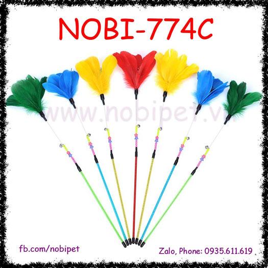 Cây Vờn Mèo Badminton Đồ Chơi Đùa Nghịch Nhiều Màu Nobi-774C