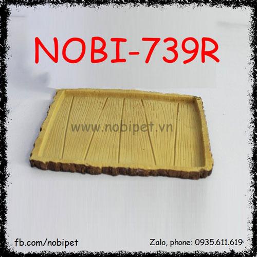 Chén Ăn Bittet Viền Họa Tiết Vỏ Gỗ Thông Cho Bò Sát Nobi-739R