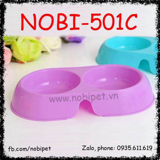 Chén Ăn Classic 2 Trong 1 Cho Chó Mèo Nobi-501C