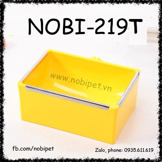 Chén Ăn Conan Hình Chữ Nhật Gắn Lồng Cho Thỏ Guinea Pig Nobi-219T