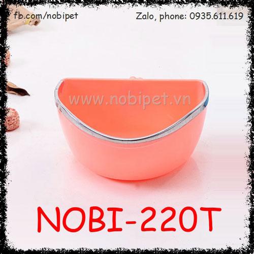 Chén Ăn Donut Gắn Lồng Cao Cấp Cho Thỏ Kiểng Bọ Ú Nobi-220T