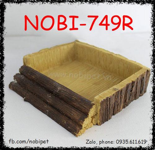 Chén Ăn Robinhood Giả Gỗ Độc Đáo Cho Sóc Cảnh Nobi-749R