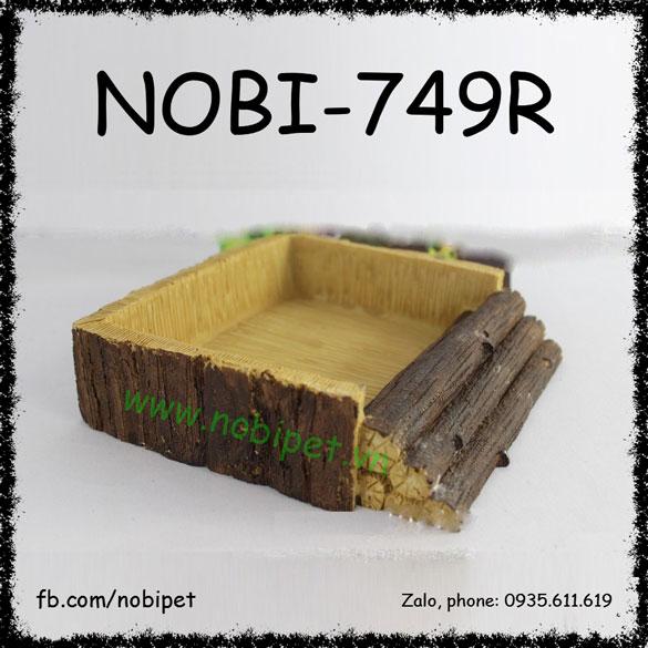 Chén Ăn Forest Hoa Vân Gỗ Cây Cho Rồng Nam Mỹ Iguana Nobi-749R