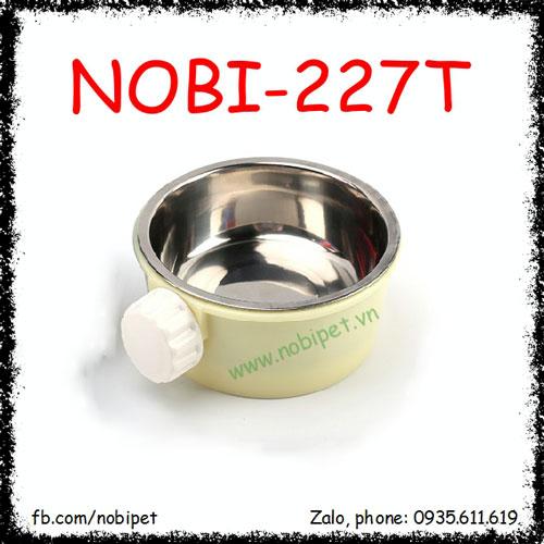 Chén Ăn Inox Sugar Gắn Lồng Cho Thỏ Kiểng Bọ Ú Nobi-227T