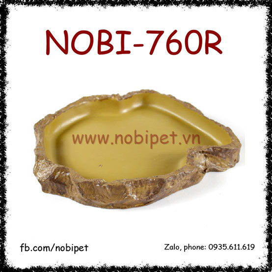 Chén Ăn La Mã Vân Thạch Nhũ Trang Trí Và Nuôi Sóc Cảnh Nobi-760R
