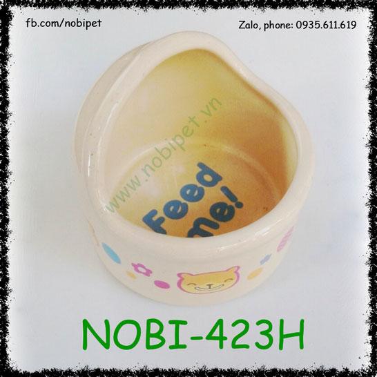 Chén Ăn Mini Bear Sứ Dễ Thương Nuôi Nhím Kiểng Nobi-423H
