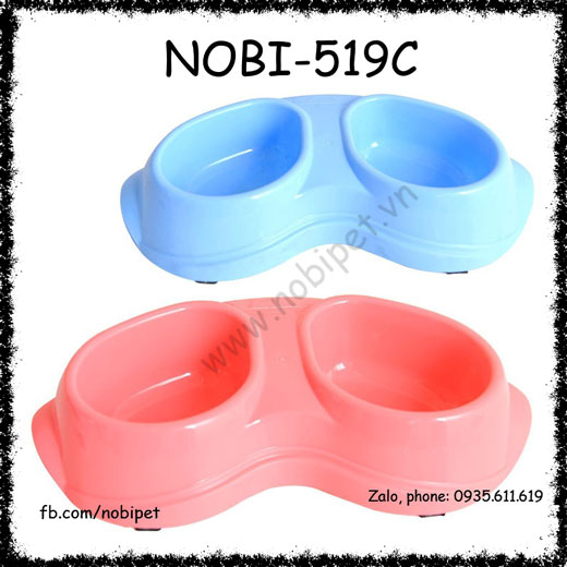 Chén Ăn Nhựa Pompet Cho Chó Nhỏ Và Mèo Nobi-519C
