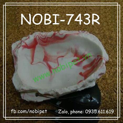 Chén Ăn Vân Đá Cẩm Thạch Chỉ Đỏ Cho Nhím Kiểng Nobi-743R