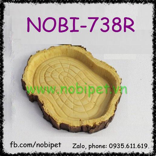 Chén Đựng Thức Ăn Gô-Loa Giả Gỗ Sồi Cho Bò Sát Nobi-738R