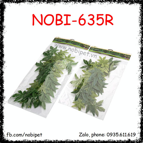 Chùm Lá Cây 5 Cánh Trang Trí Chuồng Nuôi Bò Sát Nobi-635R
