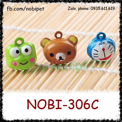 Chuông Đeo Cổ Cartoon Cho Chó Mèo Nhiều Hình Nobi-306C