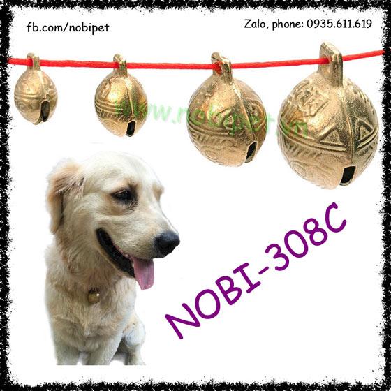 Chuông Đeo Cổ Zichzac Cho Chó Mèo Bằng Đồng Nobi-308C