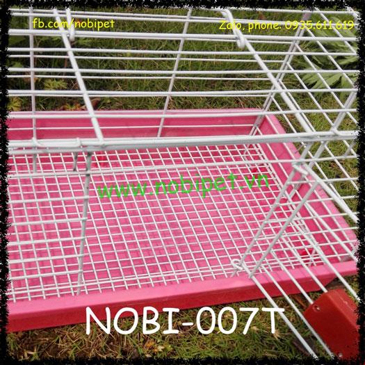 Chuồng Lồng Sắt Cửa Kéo Tự Động Cho Thỏ Kiểng Bọ Ú Nobi-007T