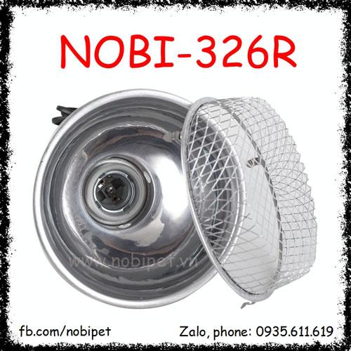 Chụp Đèn Nhôm Nguyên Bộ Có Lưới Bảo Vệ Cho Bò Sát Nobi-326R