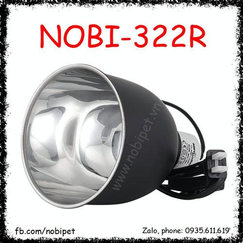 Chụp Đèn Nhôm Sơn Tĩnh Điện Chịu Nhiệt Bóng UVA UVB Nobi-322R