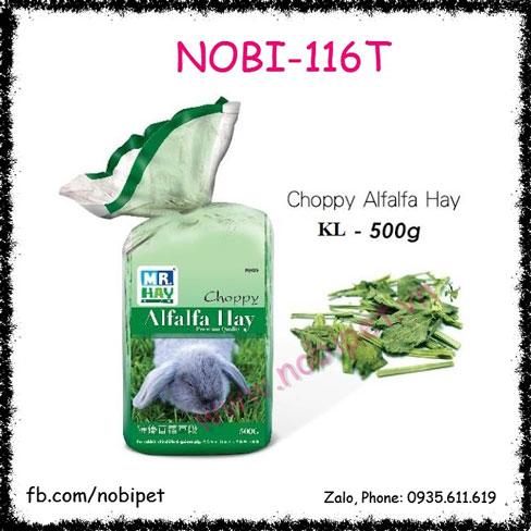 Cỏ Khô Alfalfa Hay Choppy 0.5kg Thức Ăn Cho Thỏ Bọ Nobi-116T