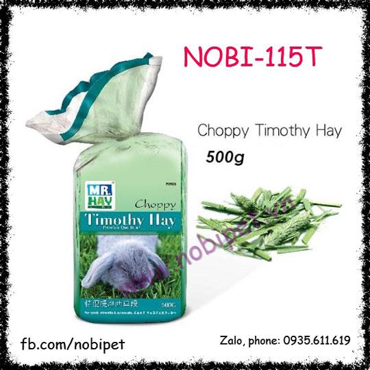 Cỏ Khô Timothy Hay Choppy 0.5kg Thức Ăn Cho Thỏ Bọ Nobi-115T