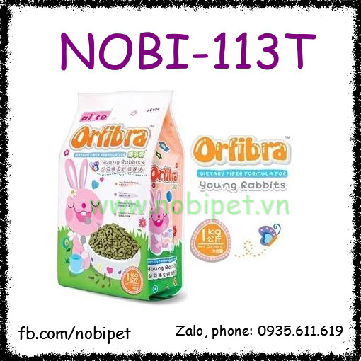Cỏ Nén Orfibra 1kg Thức Ăn Cao Cấp Cho Thỏ Kiểng Con Nobi-113T