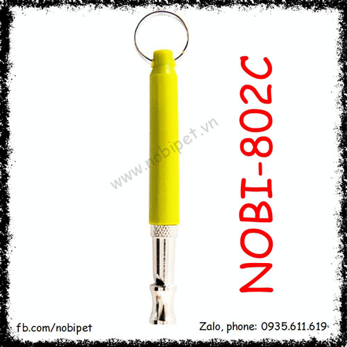Còi Siêu Âm Microwave Huấn Luyện Chó Inox Bọc Nhựa Nobi-802C