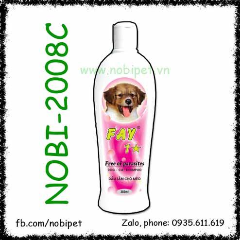 Dầu Tắm FAY 1 Sao Trị Ve Rận Cho Chó Mèo Nobi-2008C