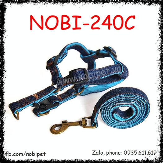 Dây Dất Chó Califonia Đai Yếm Trọn Bộ Cá Tính Nobi-240C