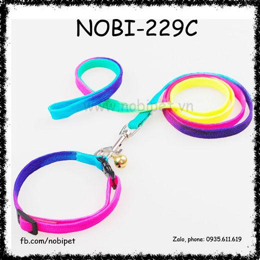 Dây Dắt Chó Color Vải Trọn Bộ Noi-229C