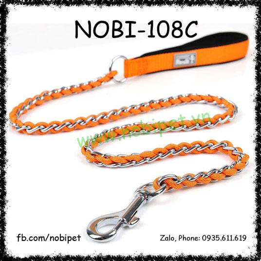 Dây Dắt Chó Euro Inox Đan Vải Độc Đáo Nobi-108C
