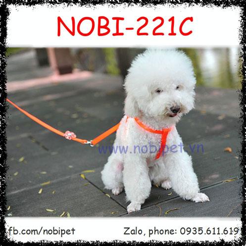 Dây Dắt Chó Flower Đai Yếm Trọn Bộ Nobi-221C