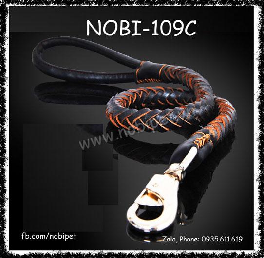 Dây Dắt Chó Iris Da Thật Cho Cún Lớn Nobi-109C