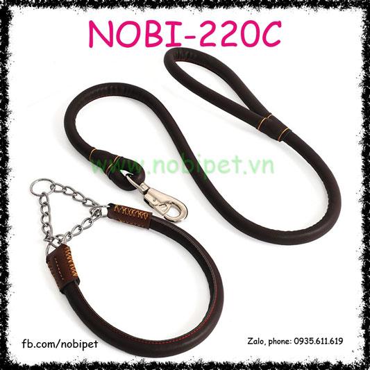 Dây Dắt Chó Soloman Da Trọn Bộ Nobi-220C